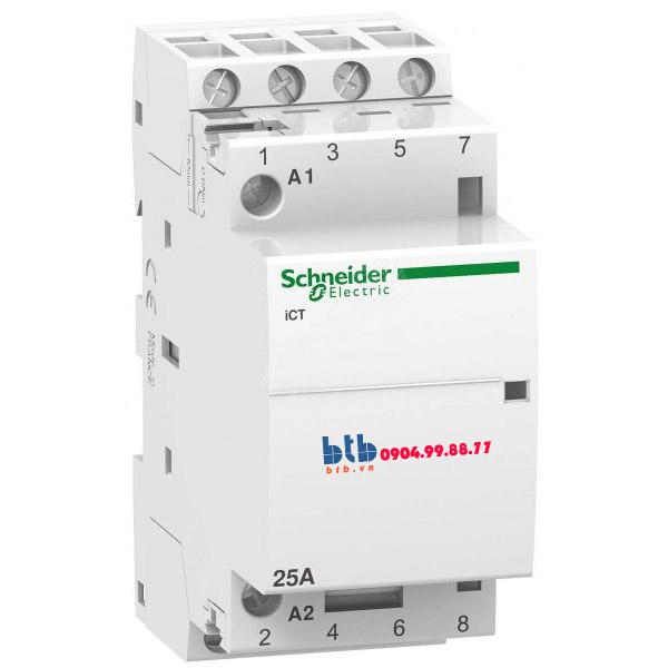 Schneider – Contactor iCT,4P, điện áp cuộn dây 230/240VAC 4NO 25A