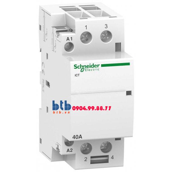 Schneider – Contactor iCT,2P, điện áp cuộn dây 230/240VAC 2NO 40A