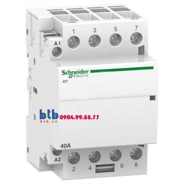 Schneider – Contactor iCT,4P, điện áp cuộn dây 230/240VAC 4NO 40A