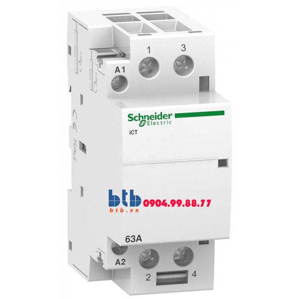 Schneider – Contactor iCT,2P, điện áp cuộn dây 230/240VAC 2NO 63A