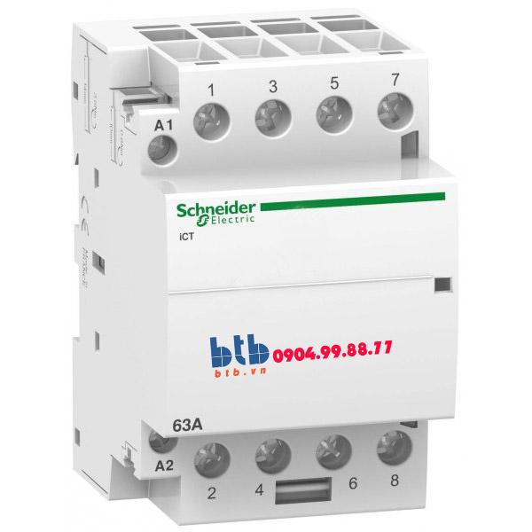 Schneider – Contactor iCT,4P, điện áp cuộn dây 230/240VAC 4NO 63A