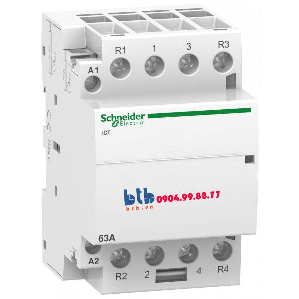 Schneider – Contactor iCT,4P, điện áp cuộn dây 230/240VAC 2NO+2NC 63A
