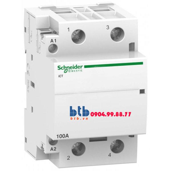 Schneider – Contactor iCT,2P, điện áp cuộn dây 230/240VAC 2NO 100A
