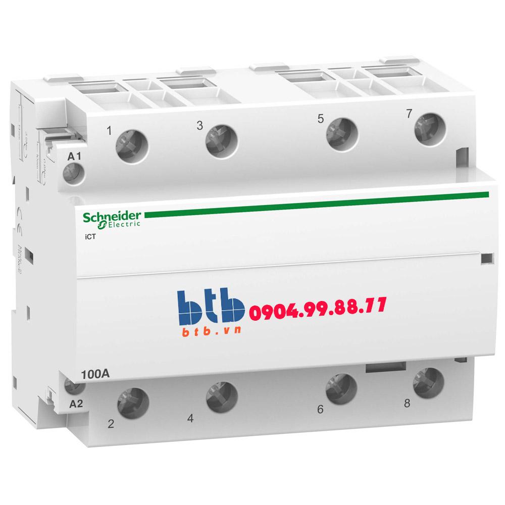 Schneider – Contactor iCT,4P, điện áp cuộn dây 230/240VAC 4NO 100A