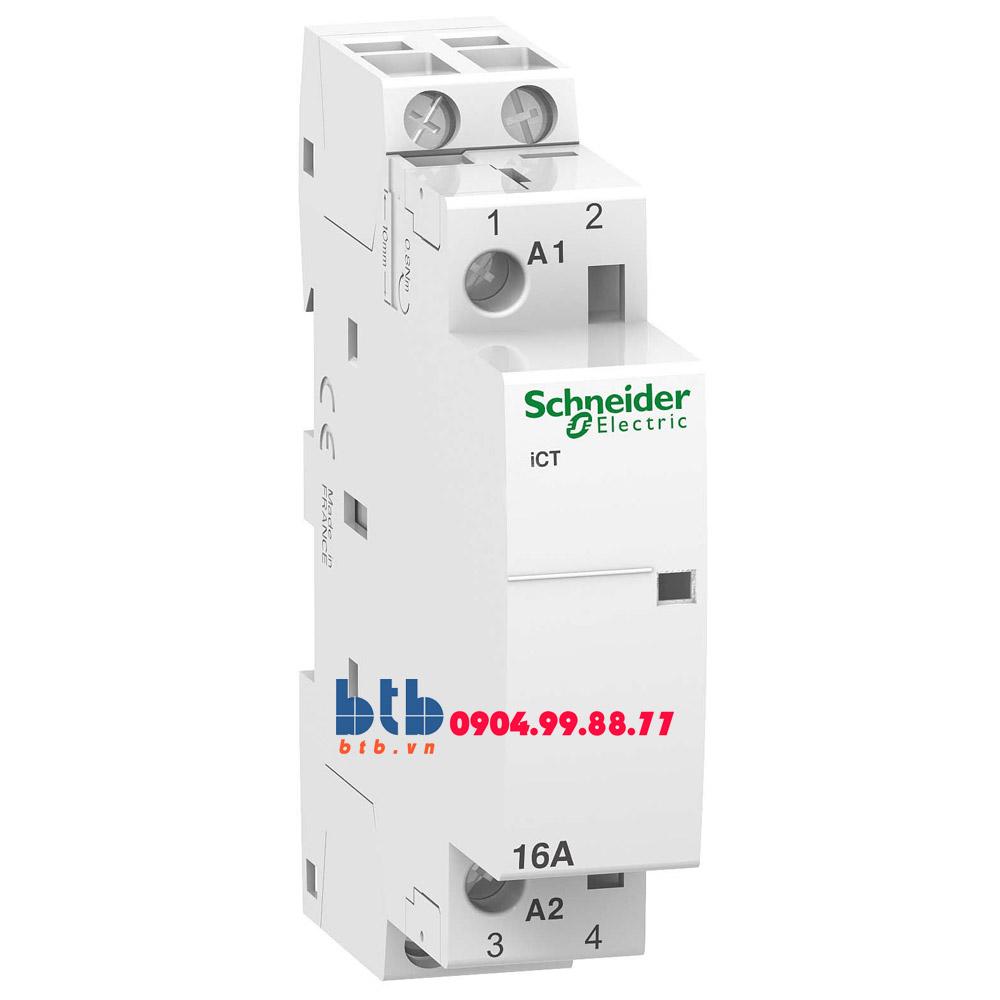 Schneider – Contactor iCT,2P, điện áp cuộn dây 230/240VAC 2NO 16A
