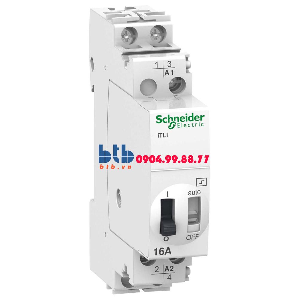 Schneider – Rờ-le Acti9 điều khiển bằng tín hiệu xung, iTLI, changeover 1NO+1NC 16A