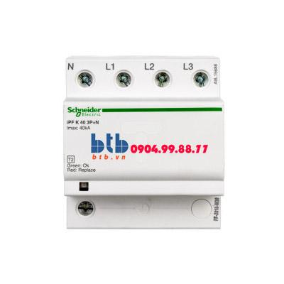 Schneider – Thiết bị chống sét lan truyền Acti 9-iPF K, loại 2, 3P+N, 400V, Fixed 40kA
