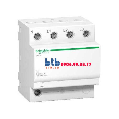 Schneider – Thiết bị chống sét lan truyền Acti 9-iPF K, loại 2, 3P+N, 400V, Fixed 20kA