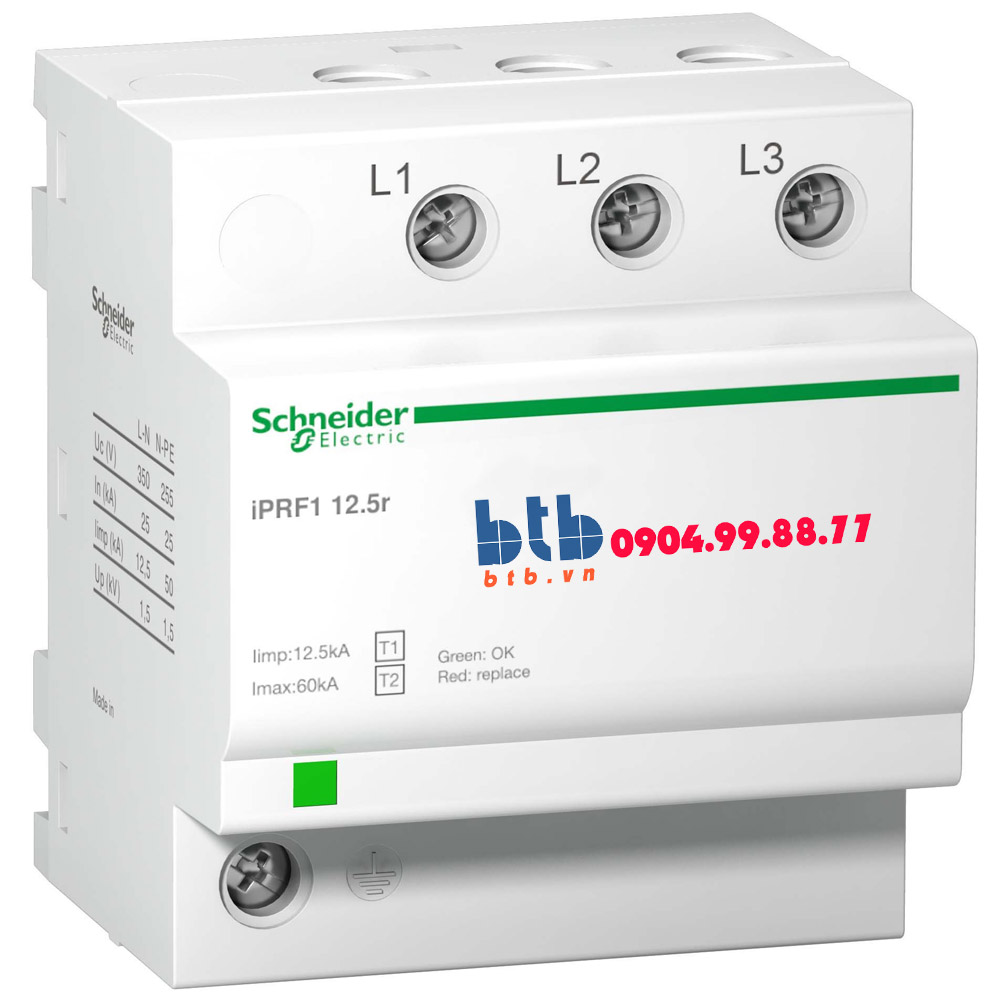 Schneider – Thiết bị chống sét lan truyền Acti 9-iPRF1, 3P