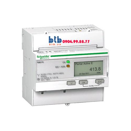 Schneider – Đồng hồ tích hợp sẵn biến dòng iEM3000 125A Bacnet