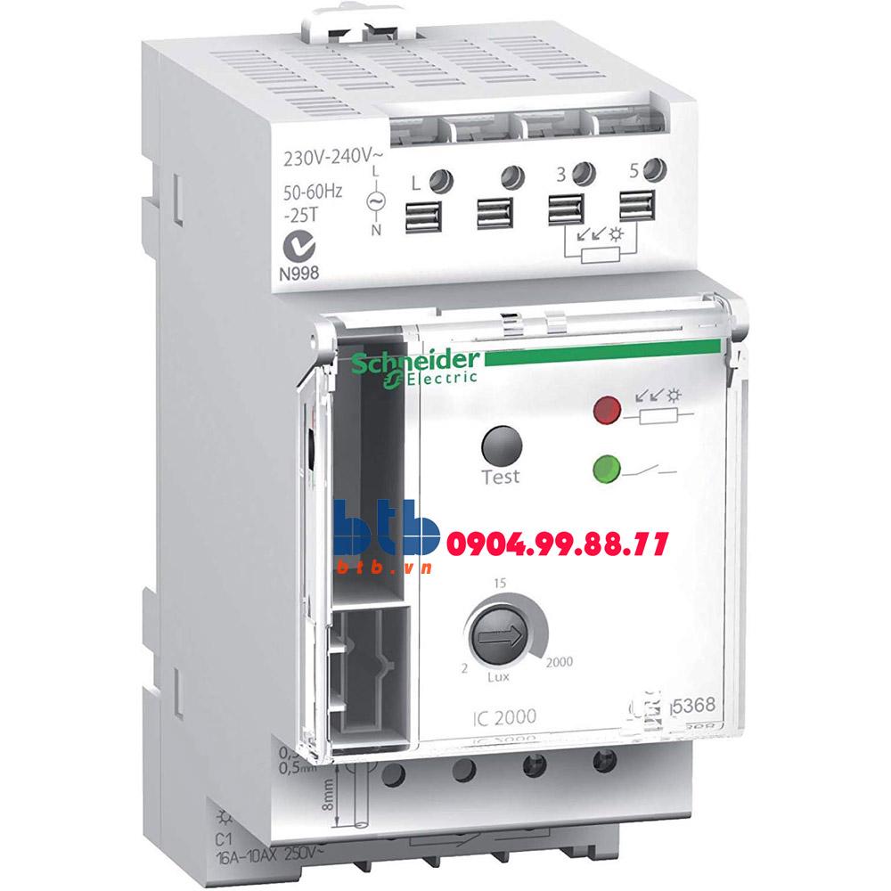 Schneider – Cảm biến độ sáng 2-2000lux gắn tường, tải 16A