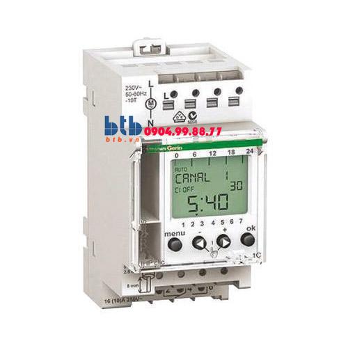 Schneider – Bộ hẹn giờ kỹ thuật số 24H và 7 ngày 1x16A, 1 input điều khiển từ xa, pin 6 năm