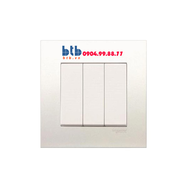 Schneider – Bộ công tắc ba 1 chiều 16AX màu trắng