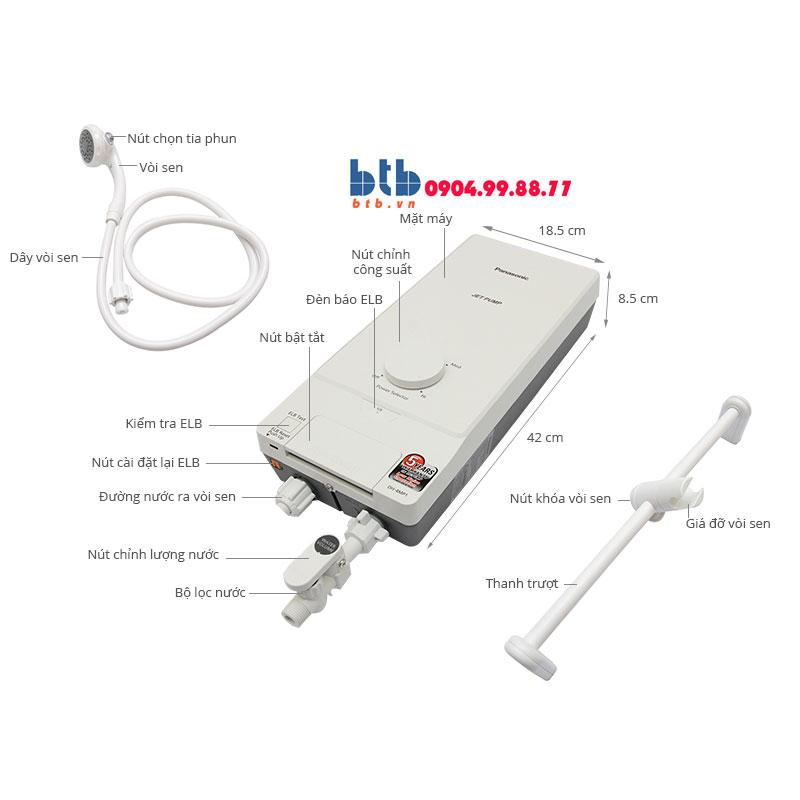 Panasonic Máy nước nóng có bơm trợ lực DH-4MP1VW
