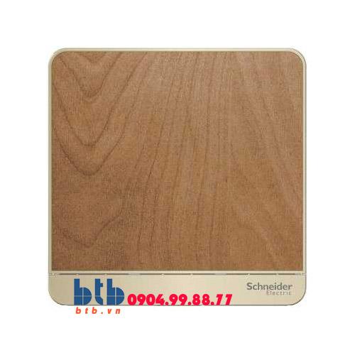 Schneider – Mặt che trơn màu gỗ
