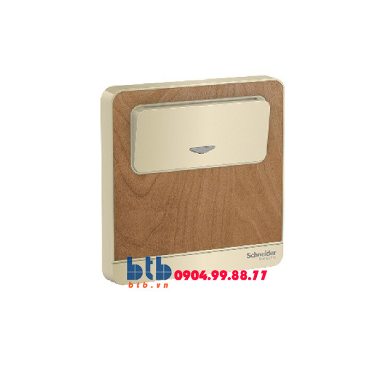 Schneider – Bộ công tắc chìa khóa thẻ màu gỗ