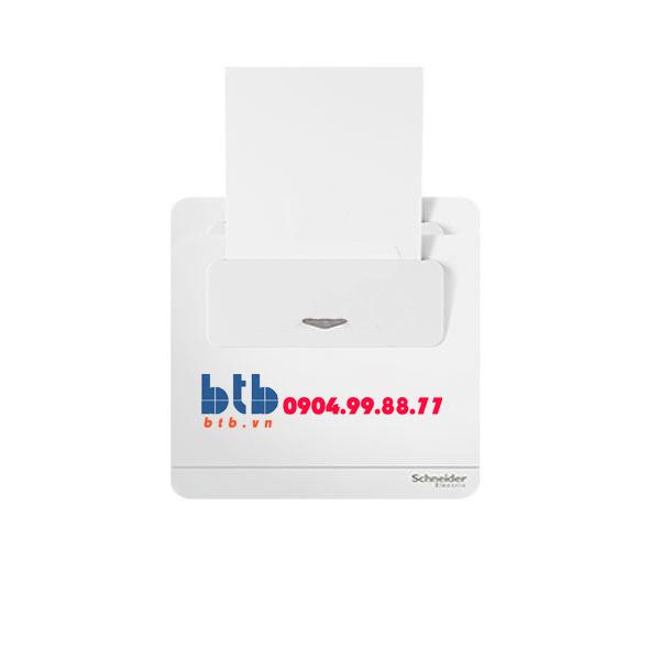 Schneider – Bộ công tắc chìa khóa thẻ màu trắng