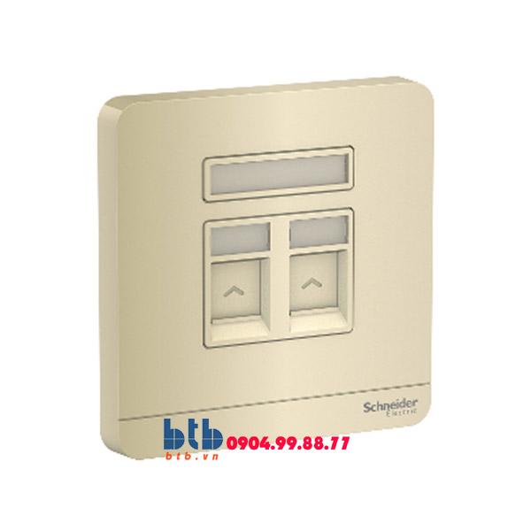 Schneider – Bộ ổ cắm điện thoại và Bộ ổ cắm mạng cat5e màu vàng ánh kim