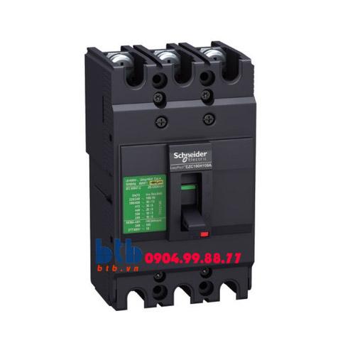 Schneider – EasyPact EZC100, 3P Type B, Icu=7.5kA/415V 15A