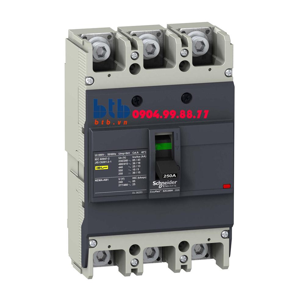 Schneider – EasyPact EZC250, 3P Type H, Icu=36kA/415V 100A