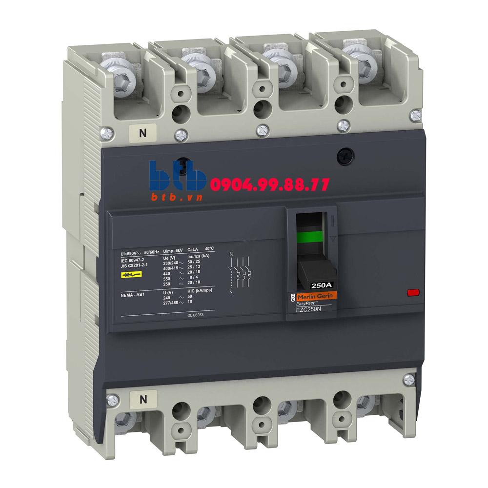Schneider – EasyPact EZC250, 4P Type N, Icu=25kA/415V 150A