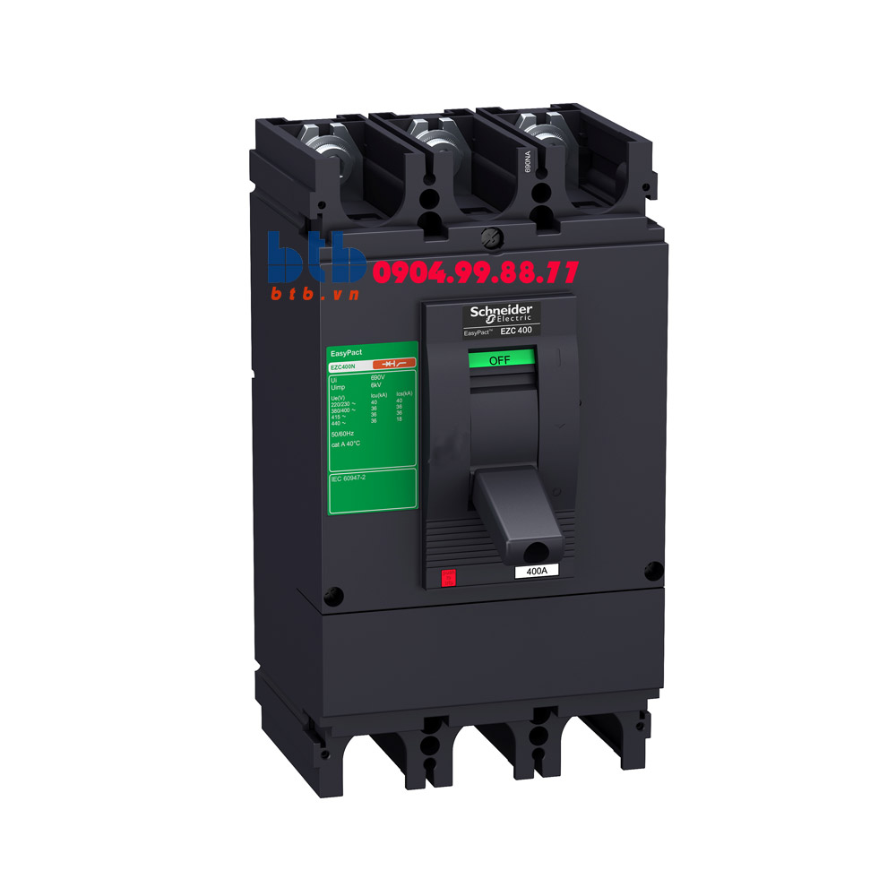 Schneider – EasyPact EZC400, 3P type H, Icu=50kA/415V 350A
