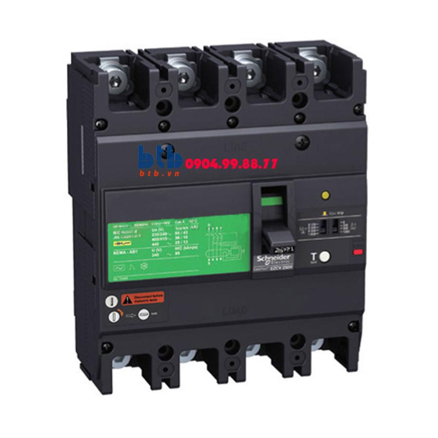 Schneider – EasyPact EZCV250, 4P Type N, Icu=25kA/415VAC 160A