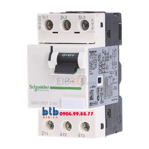 Schneider – CB Bảo vệ động cơ loại từ GV2LE 0.75