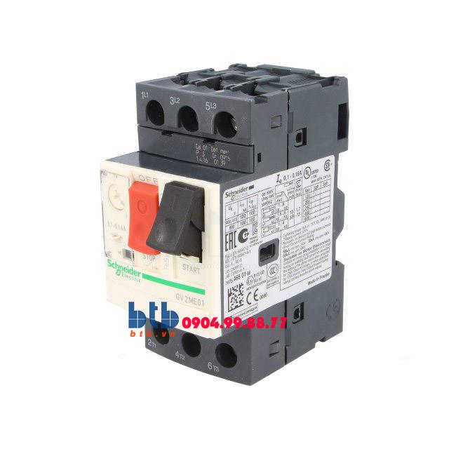Schneider – CB Bảo vệ động cơ loại từ nhiệt GV2ME