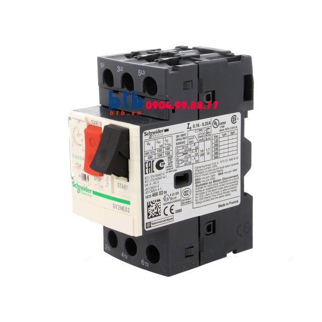 Schneider – CB Bảo vệ động cơ loại từ nhiệt GV2ME 0.06