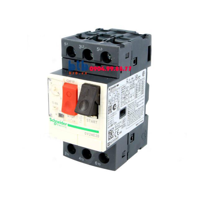 Schneider – CB Bảo vệ động cơ loại từ nhiệt GV2ME 7.5