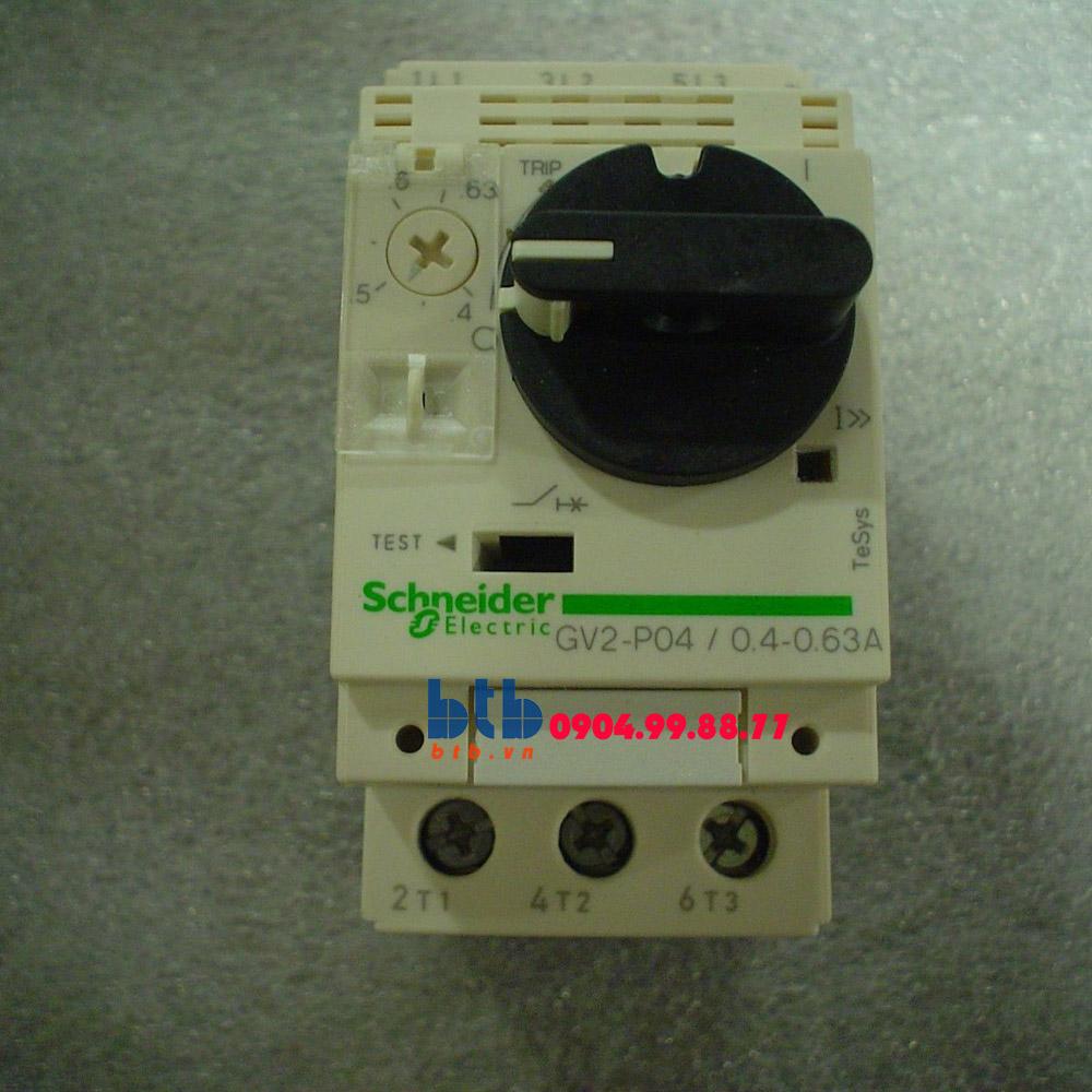 Schneider – CB Bảo vệ động cơ loại từ nhiệt GV2P 0.12;0.18
