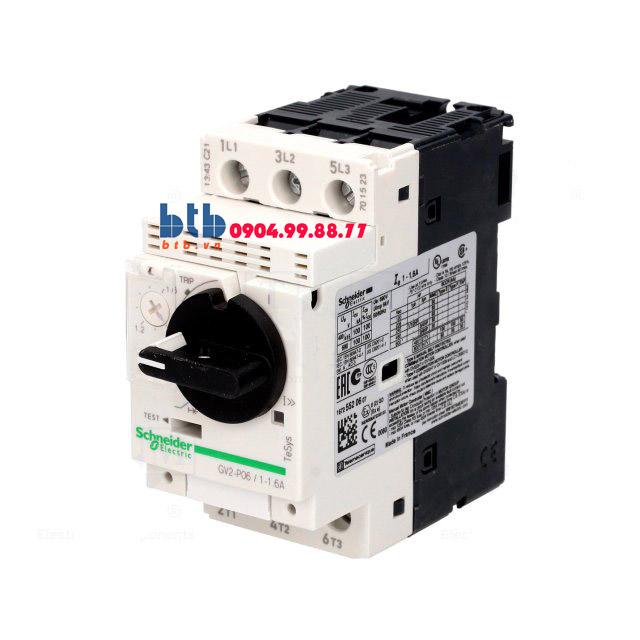 Schneider – CB Bảo vệ động cơ loại từ nhiệt GV2P 0.37;0.55