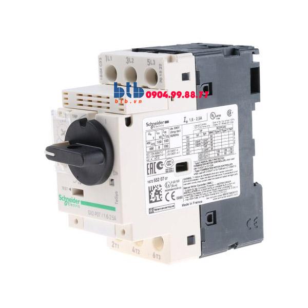 Schneider – CB Bảo vệ động cơ loại từ nhiệt GV2P 0.75
