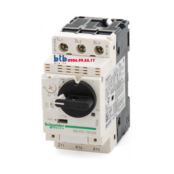 Schneider – CB Bảo vệ động cơ loại từ nhiệt GV2P 11