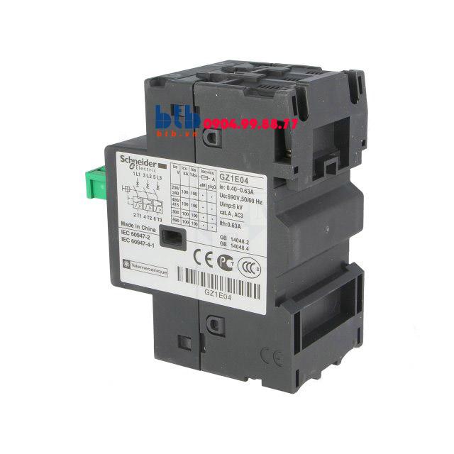 Schneider – CB Bảo vệ động cơ loại từ nhiệt GZ 0.40…0.63