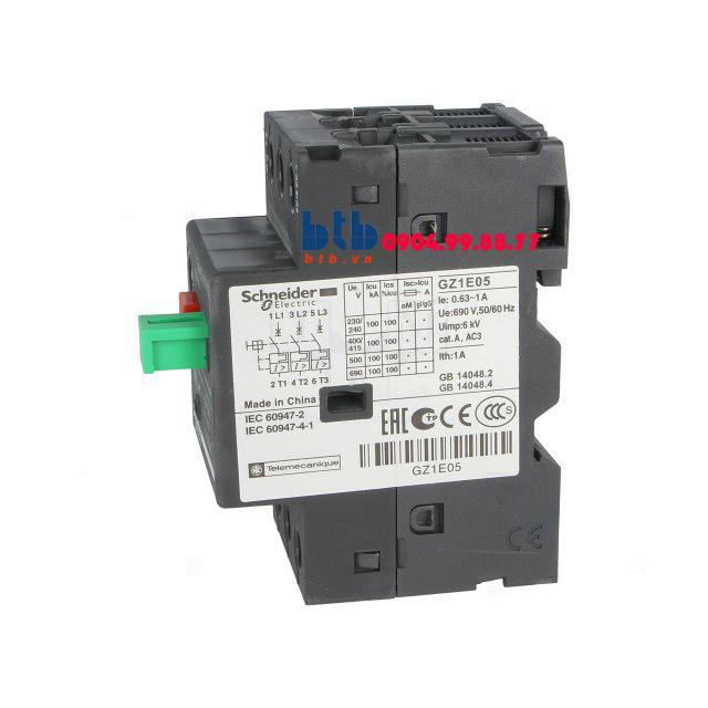 Schneider – CB Bảo vệ động cơ loại từ nhiệt GZ 0.63…1