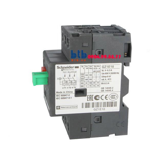 Schneider – CB Bảo vệ động cơ loại từ nhiệt GZ 4…6.3