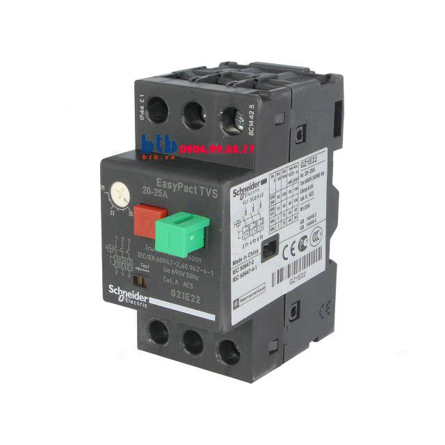 Schneider – CB Bảo vệ động cơ loại từ nhiệt GZ 20…25