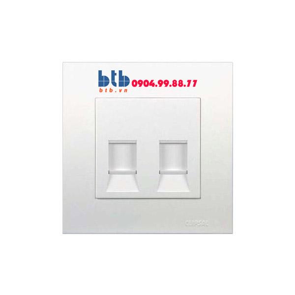 Schneider – Bộ ổ cắm mạng cat5e đôi màu trắng Vivace