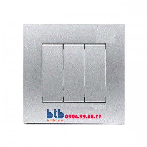Schneider – Bộ công tắc ba 1 chiều 16AX màu xám bạc