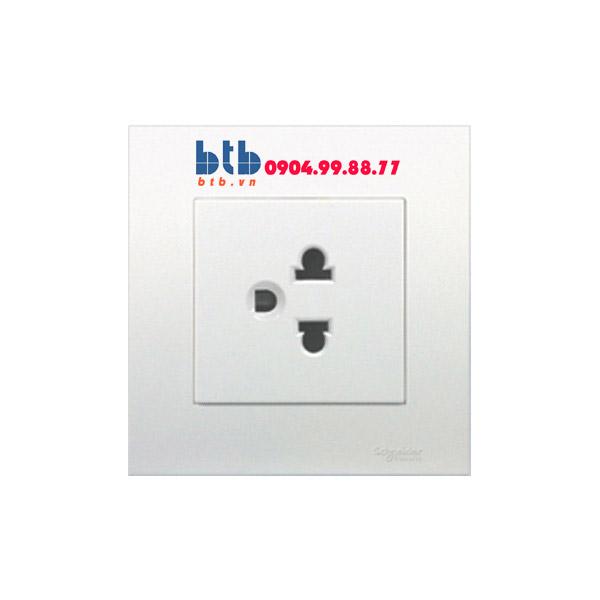 Schneider – Bộ ổ cắm đơn 3 chấu 16A màu trắng