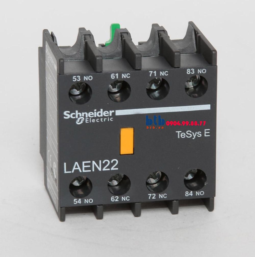 Schneider – Khối tiếp điểm phụ gắn ở mặt trước 2NO/2NC