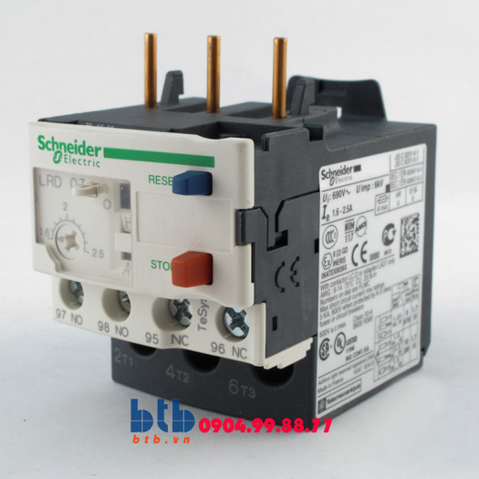 Schneider – Class 10A(1) với đầu kết nối bắt vít 1.6…2.5