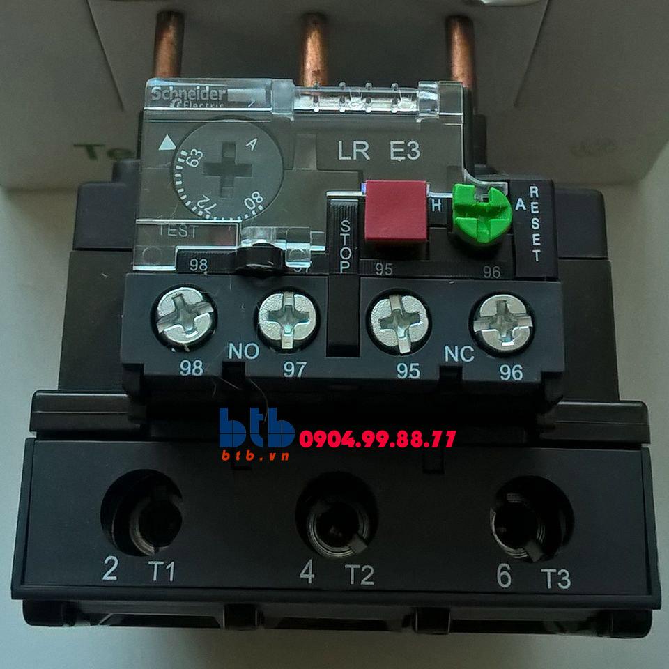 Schneider – Rơ le nhiệt hợp bộ với khởi động từ có cầu đầu nối bằng ốc vít 63…80