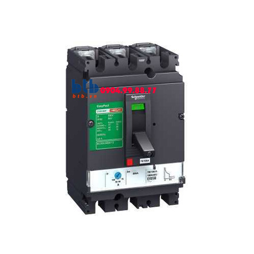 Schneider – EasyPact CVS100B, 3P Type B, Icu=25kA/415V 100A