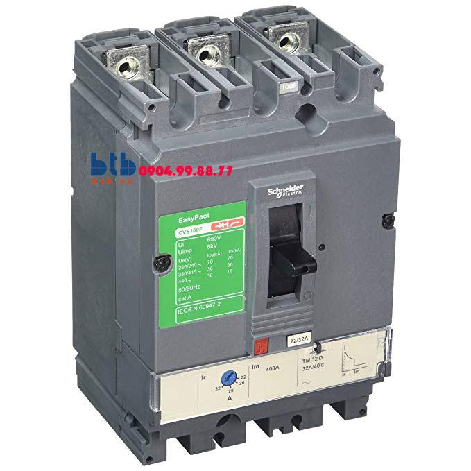 Schneider – EasyPact CVS100F, 3P Type F, Icu=36kA/415V 32A
