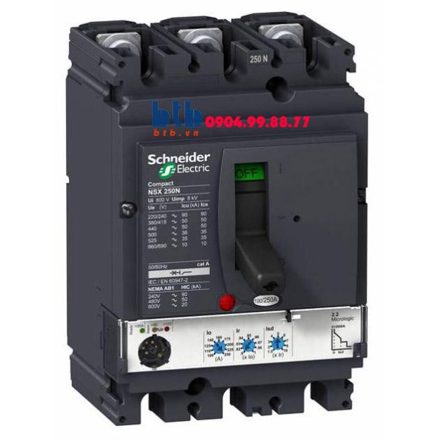 Schneider – EasyPact CVS250F, 3P Type F, Icu=36kA/415V 200A