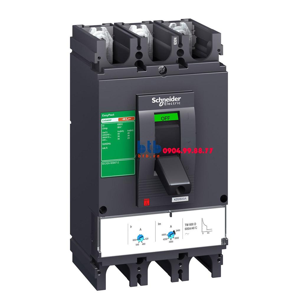 Schneider – EasyPact CVS400N, 3P Type N, Icu=50kA/415V 400A