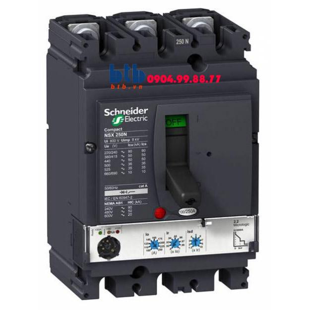 Schneider – EasyPact CVS250F, 3P Type F, Icu=36kA/415V 500A